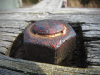Rusted screw and nut